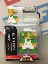 "Jakks 2.5"" Super Mario World of Nintendo Walgreens Exc 1-2 8 Bit Luigi Figure"