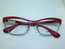 PRADA occhiali da vista donna rossi VPR57O metallo woman red glasses lentes