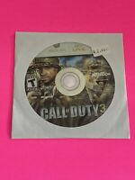 🔥MICROSOFT XBOX 360 💯 WORKING GAME DISC ONLY🔥CALL OF DUTY 3 COD