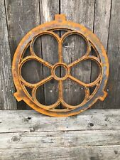 More details for round window frame in a antique style -circular cast iron with rust 60cm small