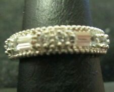 sliver ring size 7  with white  stones