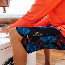 "45% Off HUK CLASSIC 20"" BOARD SHORT--Fishing Short-Floral Print Pick Size"