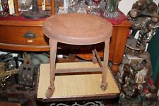 Antique Industrial Milking Cow Stool Factory Stool Wheels Plant Stand Garden