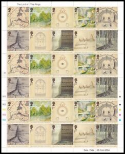 2004 GB Lord of the Rings SG2429-2438 30 x 1st Class Stamp Sheet UM MNH