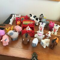 Lot of Gently Used Rubber Plastic Farm Animals Fences Cows Chickens Pigs Horses