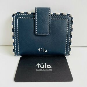 TULA (By Radley) Mallory Blue Leather Travel Pass Card Holder - BNWT - RRP £29