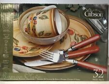 Gibson Designs Roman Olives 4 Piece Place Setting Hand-Painted Service For 4