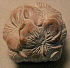 ISABEL BLOOM Pansy Basket Paperweight Signed 1996