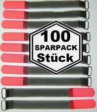100 Klett Kabelbinder 160 x 16 mm neonrot SO Kabelklettband Kabelklett Klettband