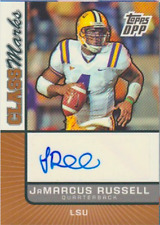 Jamarcus Russell 2007 Topps DPP Class Marks rookie RC autograph auto card CM-JR