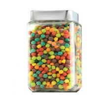 Anchor Hocking Square Stackable Glass Jar with Chrome Lid Storage Container 1.5L