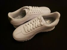 PUMA Womens Roma Amor White Leather Silver Met shoes Sneakers size 9.5  37191901