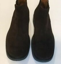 Banana Republic Boots Size 8.5 Men's Brown Suede Leather Pull On Chukka Boots