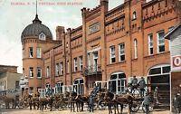 E3/ Elmira New York NY Postcard 1908 Central Fire Station Department
