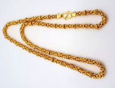FANTASTIC TOP CLASS 22KARAT YELLOW GOLD BYZANTINE CHAIN NECKLACE UNISEX JEWELRY