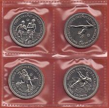 IOM île de MAN 1984 4 couronnes XXIII Olympiques Los angeles-sarajevo scellé