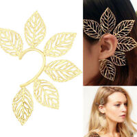 Fashion Leaf Clip Ear Cuff Studs Women's Punk Wrap Cartilage Earrings Jewelry JC