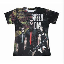 2016 New Fashion Style Women's/Men's Green Day 3D Print Casual T-Shirt R-80
