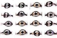 Wholesale Lots 25x Black Men Boy Batman Titanium Stainless Steel Rings Xmas Gift