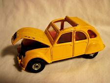 "1981 Diecast Car Corgi Citroen 2CV6 James Bond ""For Your Eyes Only"" Open Top GUC"