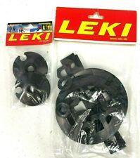 Leki Ski Pole Disc 62 mm or Deep Powder Basket NWT Replacement Black Free Ship