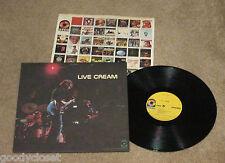 ROCK CREAM LIVE CREAM ATCO LP ORIGINAL 1970 EXCELLENT  *