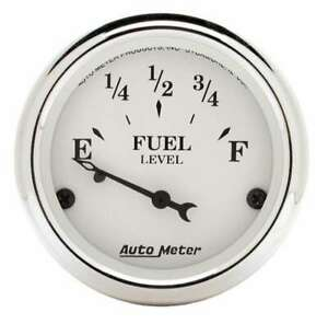 Old Tyme White 2 1/16in Fuel Gauge Ford