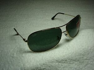 New Authentic RAY-BAN RB 3267 001/71 Gold Sunglasses G-15 Green Classic Lens
