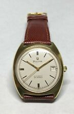 Vintage Bulova Clipper 23 Jewl 11ANACD Automatic Watch 1969 Eggshell White Dial