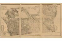 Map of San Diego County, California, 1890; Antique Map; Custom Printed