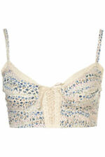 BNWT Topshop Floral Tie Front Bralet, RRP £22, Size 14
