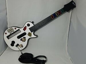 Wii Guitar Hero Gibson Les Paul Wireless Guitar white Controller TESTED