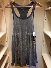 VANS Silver Sparkle Razorback Dress Size Medium