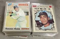 1970 Topps Partial Starter Set Lot Of 114 Diff W/ Rookies Unmarked Checklists +