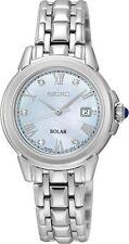 Seiko SUT243 Women's Solar MOP Dial Steel Bracelet Watch
