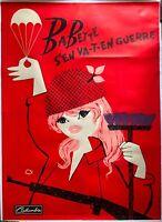 Plakat Montiert Babette S Aus Gehen IN Krieg Lefor Openo Brigitte Bardot 120x160