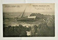 SAINT MALO- SHIPWRECK OF THE HILDA JERSEY STAMP 1906