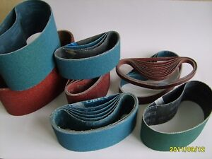 6x 50mm x 686mm  Ceramic Abrasive Belt Various Grit Options
