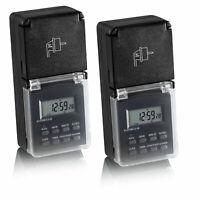 REV Zeitschaltuhr mechanisch IP44 schwarzgrün Dämmerung Countdown innen außen