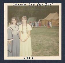 ANNIE GET YOUR GUN Teenage Girls Dressed in Wild West Period Clothing 60's Photo