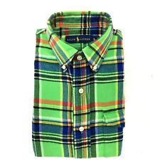 $62.00 Ralph Lauren Casual Flannel Shirt, Green Plaid, Size Small