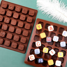Silicone Alphabet Letter Chocolate Mould Ice Cube Tray Candy Making Mold 30 Grid