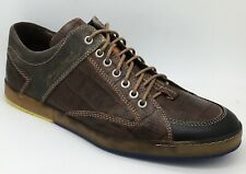Timberland Mens Floris Van Bommel OX Brown Croc Trainers UK 9 *