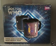 DR309 Doctor Who Disappearing Sonic Screwdriver Mug Heat Reveal Coffee Cup BBC