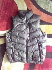 Puma Sport Black Puffer Duck Down Feathers Winter Vest Women Size M Medium