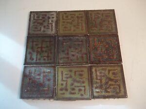 "100 Antique 3"" ceramic tiles architectual salvage Asian Japanese Japan"