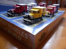 Raro Conjunto Completo-Matchbox Coleccionables-Post vehículos del mundo, Nueva En Caja