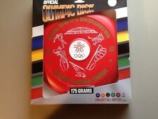 1988 XV OFFICIAL OLYMPIC WINTER GAMES COLLECTIBLE  RED FRISBEE DISK DISC 175