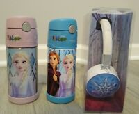 2x Frozen Thermos Funtainer Light Up Headphone NEW Elsa Anna Bottle Princess