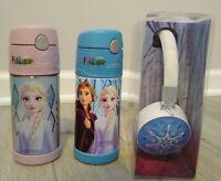 2x Frozen Thermos Funtainer Light Up Headphone NEW Elsa Anna Bottle Princess